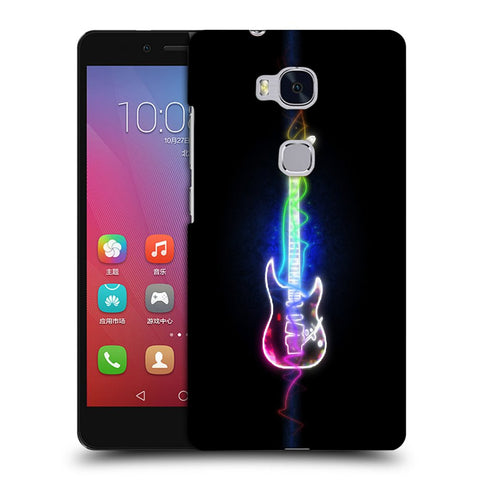 Snoogg Abstract Guitar Designer Protective Back Case Cover For Huawei Honor 5X
