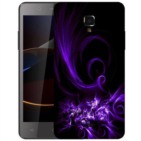 Snoogg Abstract Purple Pattern Designer Protective Back Case Cover For Swipe Elite 2 Plus