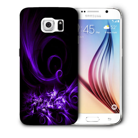 Snoogg Abstract Purple Pattern Designer Protective Back Case Cover For Samsung Galaxy S6