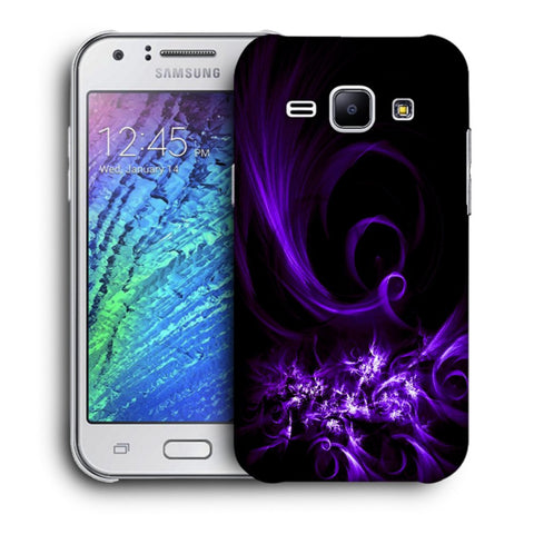Snoogg Abstract Purple Pattern Designer Protective Back Case Cover For Samsung Galaxy J1