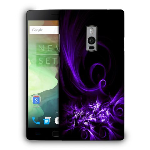 Snoogg Abstract Purple Pattern Designer Protective Back Case Cover For OnePlus Two