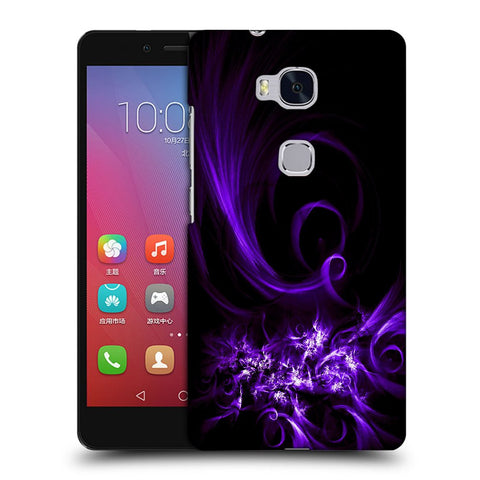 Snoogg Abstract Purple Pattern Designer Protective Back Case Cover For Huawei Honor 5X