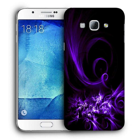 Snoogg Abstract Purple Pattern Designer Protective Back Case Cover For Samsung Galaxy A8