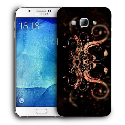 Snoogg Abstract Colorfull Pattern Designer Protective Back Case Cover For Samsung Galaxy A8