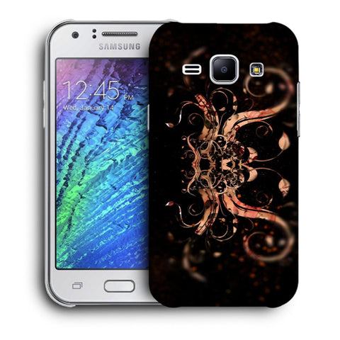Snoogg Abstract Colorfull Pattern Designer Protective Back Case Cover For Samsung Galaxy J1
