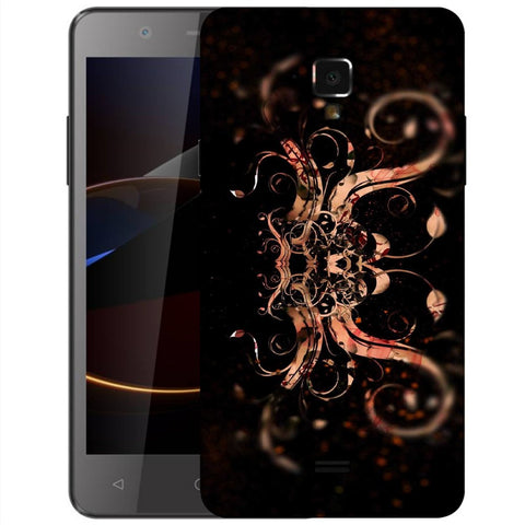 Snoogg Abstract Colorfull Pattern Designer Protective Back Case Cover For Swipe Elite 2 Plus