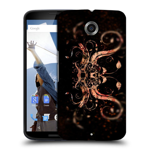 Snoogg Abstract Colorfull Pattern Designer Protective Back Case Cover For Motorola Nexus 6