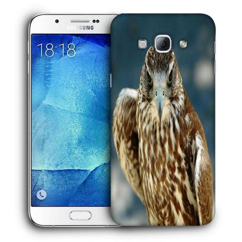 Snoogg Abstract Eagle Designer Protective Back Case Cover For Samsung Galaxy A8