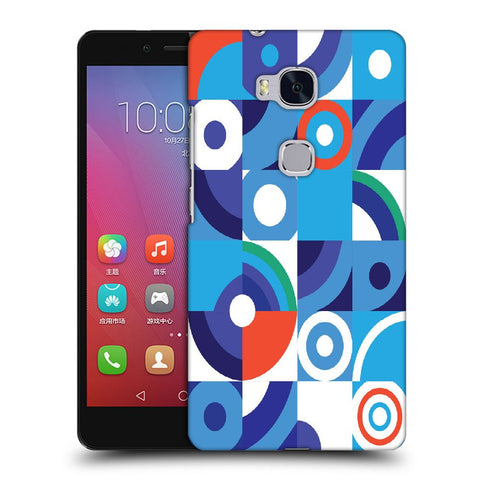 Snoogg Abstract Blue Pattern Designer Protective Back Case Cover For Huawei Honor 5X
