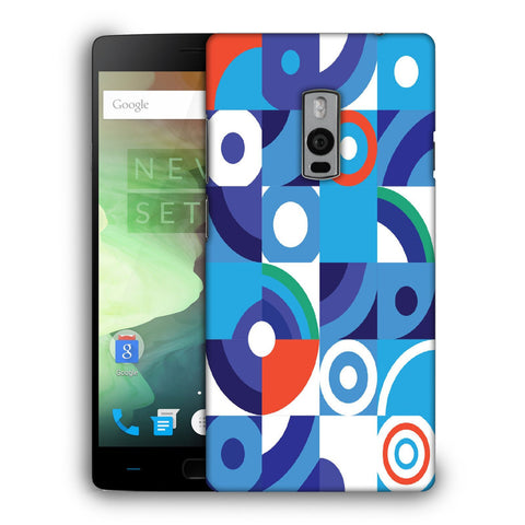 Snoogg Abstract Blue Pattern Designer Protective Back Case Cover For OnePlus Two