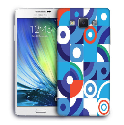 Snoogg Abstract Blue Pattern Designer Protective Back Case Cover For Samsung Galaxy A7
