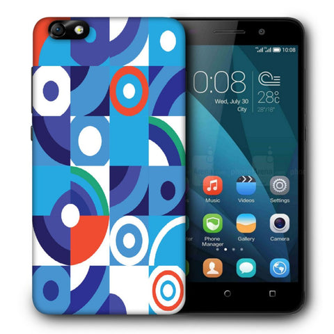 Snoogg Abstract Blue Pattern Designer Protective Back Case Cover For Huawei Honor 4X