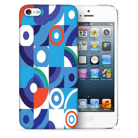 Snoogg Abstract Blue Pattern Designer Protective Back Case Cover For Apple Iphone SE