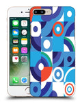 Snoogg Abstract Blue Pattern Designer Protective Back Case Cover For Apple Iphone 7 Plus