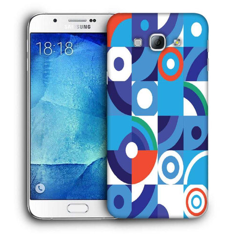 Snoogg Abstract Blue Pattern Designer Protective Back Case Cover For Samsung Galaxy A8