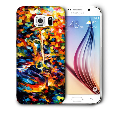 Snoogg Abstract Colorful Paint Designer Protective Back Case Cover For Samsung Galaxy S6