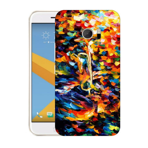 Snoogg Abstract Colorful Paint Designer Protective Back Case Cover For HTC Desire 10 Lifestyle