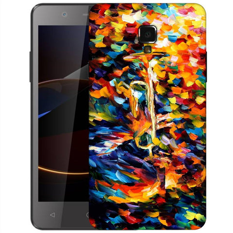 Snoogg Abstract Colorful Paint Designer Protective Back Case Cover For Swipe Elite 2 Plus