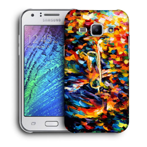 Snoogg Abstract Colorful Paint Designer Protective Back Case Cover For Samsung Galaxy J1