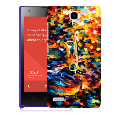 Snoogg Abstract Colorful Paint Designer Protective Back Case Cover For Xiaomi Redmi Note 2
