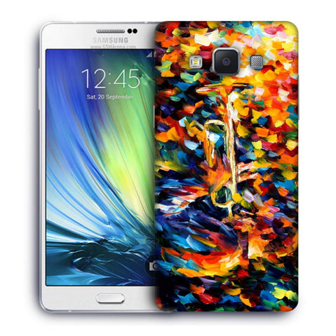 Snoogg Abstract Colorful Paint Designer Protective Back Case Cover For Samsung Galaxy A7