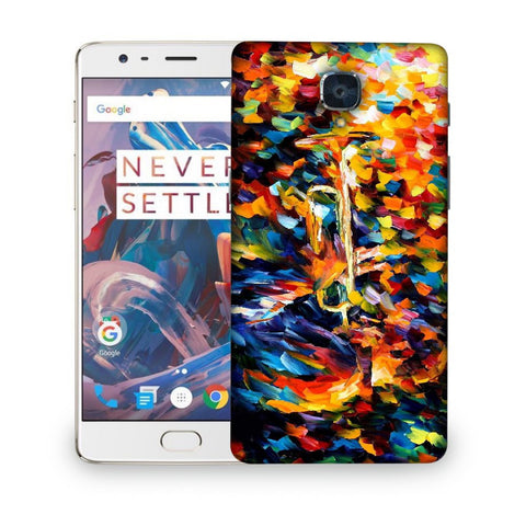 Snoogg Abstract Colorful Paint Designer Protective Back Case Cover For ONEPLUS 3T