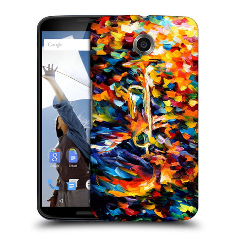 Snoogg Abstract Colorful Paint Designer Protective Back Case Cover For Motorola Nexus 6