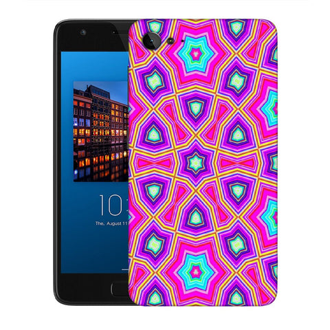 Snoogg Abstract Pink Star Pattern Designer Protective Back Case Cover For Lenovo Zuk Z2