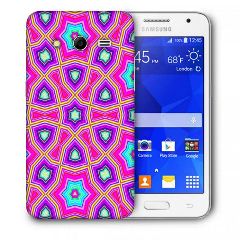 Snoogg Abstract Pink Star Pattern Designer Protective Back Case Cover For Samsung Galaxy Core 2