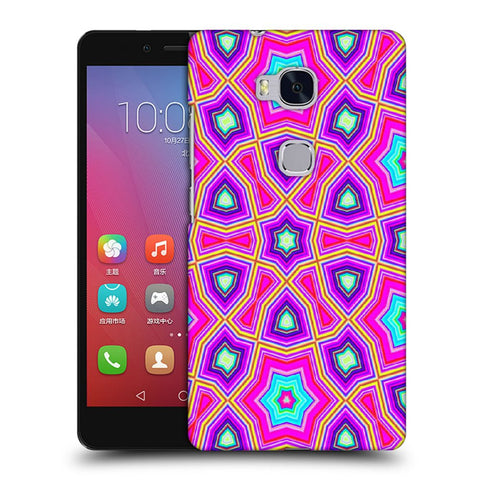 Snoogg Abstract Pink Star Pattern Designer Protective Back Case Cover For Huawei Honor 5X