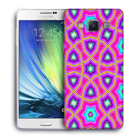 Snoogg Abstract Pink Star Pattern Designer Protective Back Case Cover For Samsung Galaxy A7