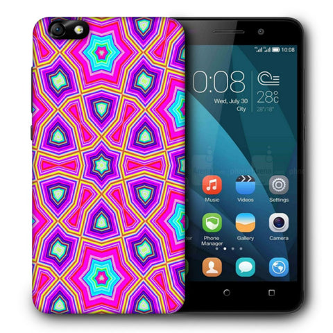 Snoogg Abstract Pink Star Pattern Designer Protective Back Case Cover For Huawei Honor 4X