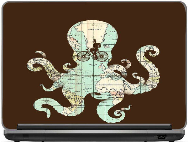 All Around The World Laptop Skin 17 inches  By Enkel Dika