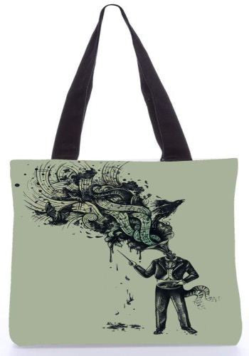 Snoogg  Cacophony Graphic Design by : ENKEL Poly Canvas Tote Bag