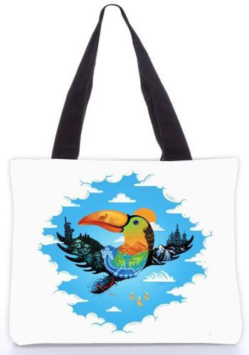 Snoogg  journey Graphic Design by : ENKEL Poly Canvas Tote Bag