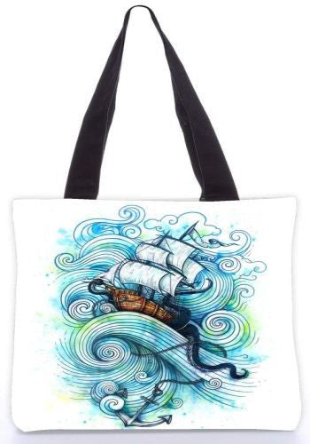 Snoogg  long journey Graphic Design by : ENKEL Poly Canvas Tote Bag