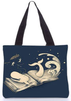 Snoogg  moby dick Graphic Design by : ENKEL Poly Canvas Tote Bag