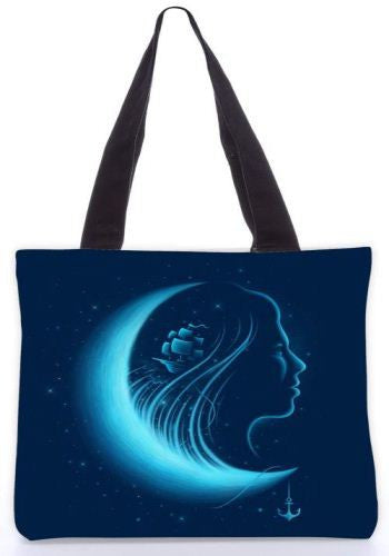 Snoogg  Moonlight Grace Graphic Design by : ENKEL Poly Canvas Tote Bag