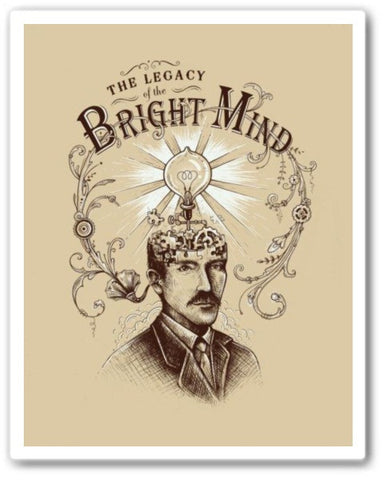 the legacy of the bright mind Wall Art Print