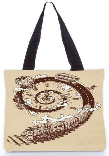 Snoogg  time travel Graphic Design by : ENKEL Poly Canvas Tote Bag