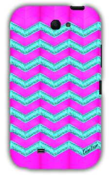 Pink and cyan glitter chevron-Samsung Note 2 Case Cover By Emiliano Morciano
