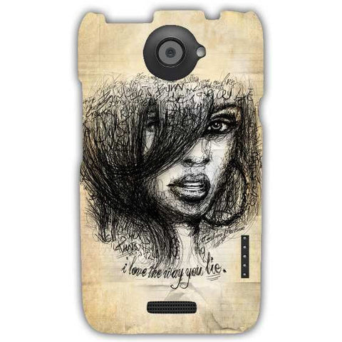 rihanna-HTC-ONE-X+-case-cover-by-Emiliano Morciano