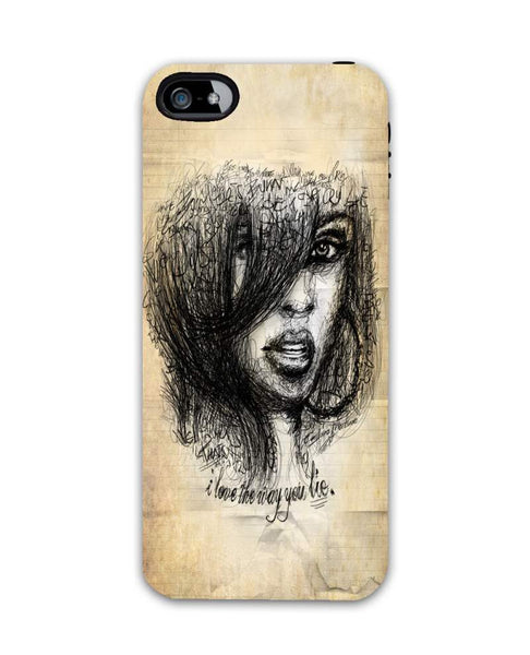 rihanna-iphone5 Case Cover By Emiliano Morciano