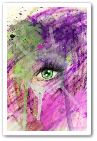 The eye of madness Wall Art Print