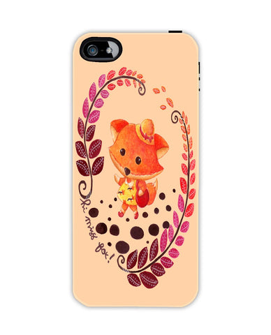 Hello Miss Fox Apple Iphone 4/ 4s case cover By Haidi Shabrina