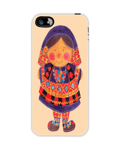 Sara the Purple Girl Apple Iphone 4/ 4s case cover By Haidi Shabrina