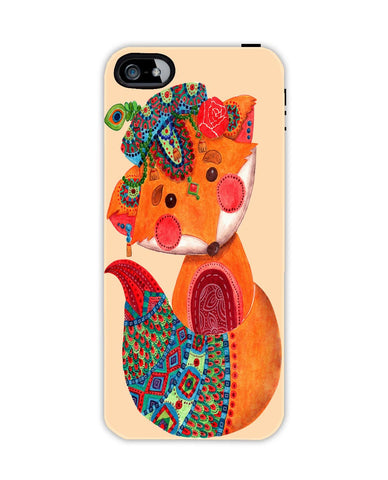 The Batik Fox Apple Iphone 4/ 4s case cover By Haidi Shabrina