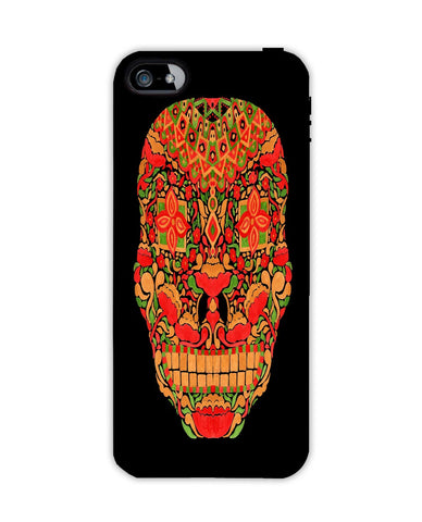 The Flower Skull Apple Iphone 4/ 4s case cover By Haidi Shabrina