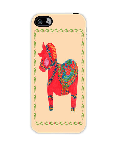 The Red Dala Horse Apple Iphone 4/ 4s case cover By Haidi Shabrina