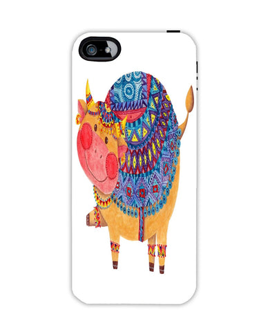 The Smile Cow Apple Iphone 4/ 4s case cover By Haidi Shabrina
